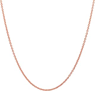 10K Yellow Gold 2.0MM Round Rolo Link Chain Necklace -...