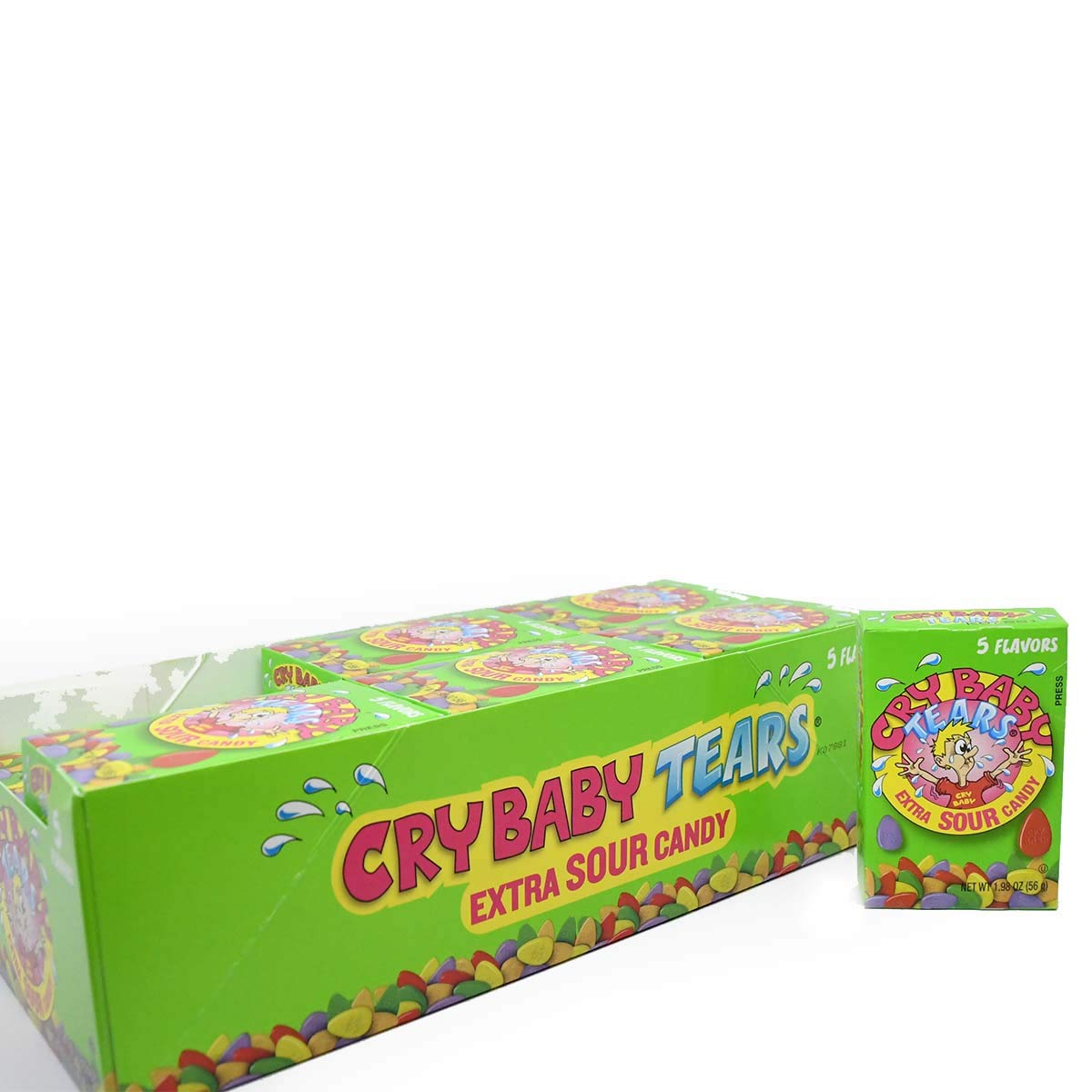 Cry Soldering Baby Tears Extra Many popular brands Sour 1.98-Ounce Candy Boxes Five Flavors