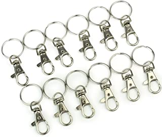 12 x Lobster Clasps Swivel Trigger Clips Snap Hooks Bag Key Ring Charms Findings