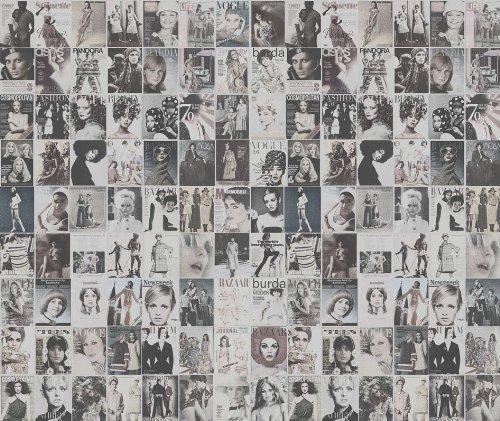 P140601-7 Foto-Vliestapete Cover von Modezeitschriften Vintagestil