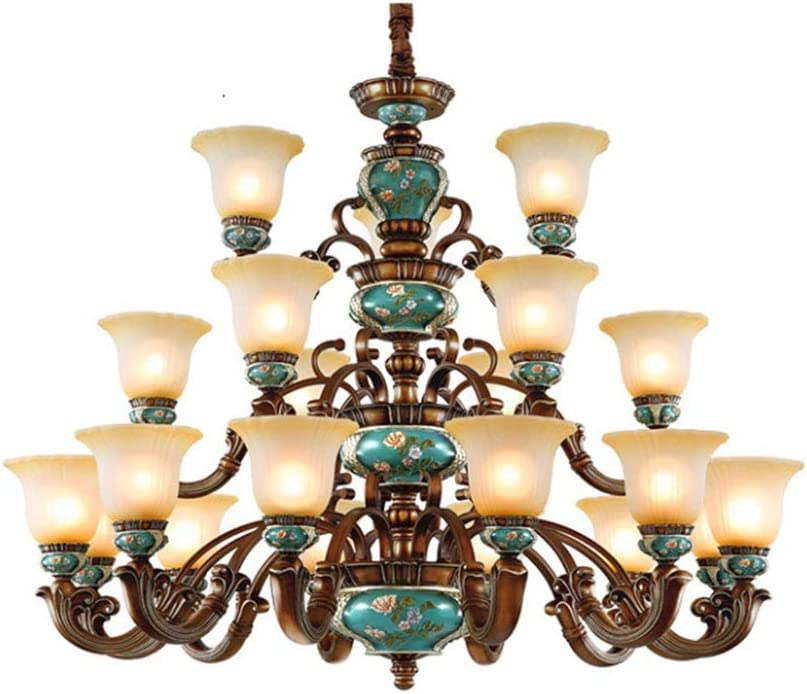 Liunce Chandelier 21-Lights Vintage Genuine NEW before selling ☆ Free Shipping Bedroom Pendant Luxury Noble