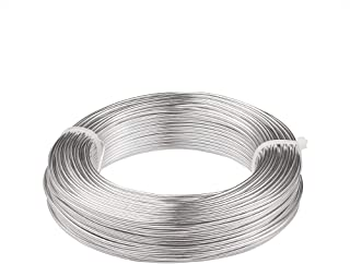 Beadsmith DA2602 Aluminum Wire 12 Gauge 39 Coil-Silver