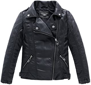 LJYH Children's Collar Motorcycle Faux Leather Coat Boys Faux Leather Jacket