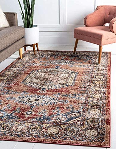Unique Loom Utopia Collection Traditional Geometric Tribal Warm Tones Terracotta Area Rug 8 product image