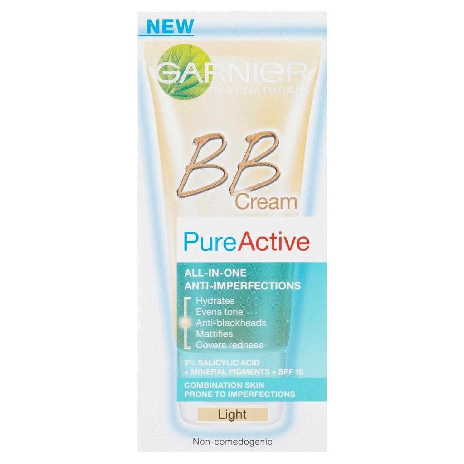 哺乳類においうがいGarnier Pure Active BB Cream - Light (50ml) ガルニエ純粋な活性bbクリーム - 光( 50ミリリットル) [並行輸入品]