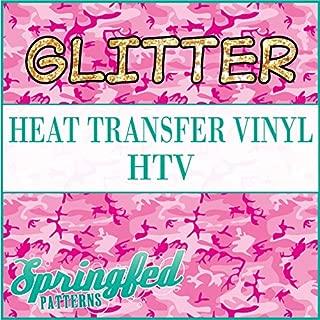 GLITTER CLASSIC PINK CAMO PATTERN HTV 12