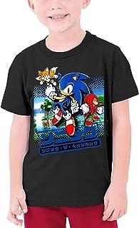 guoweiweiB Camisetas de Manga Corta para niño, Boys' So-n-IC The Hedgehog Short Sleeve T-Shirt Kids Fashion Top Tees