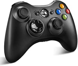 $25 » Xbox 360 Wireless Controller, Wireless Game Controller Gamepad Joystick with Vibration & Shoulder Buttons for Microsoft Xbox 360/Xbox 360 Slim/PC Windows 7 8 10(Black)