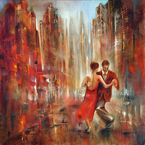Artland Qualitätsbilder I Wandbilder Selbstklebende Premium Wandfolie 100 x 100 cm Sport Funsport Tanzen Malerei Rot C8MR Tango