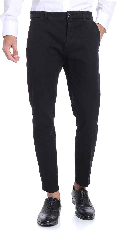 DEPARTMENT FIVE Men's U17P05T1701999 Black Cotton Pants