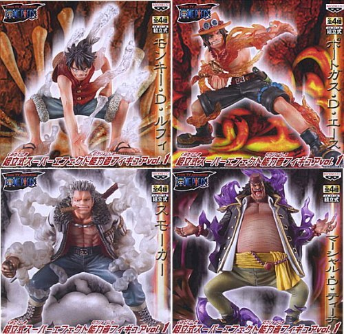 One Piece Super Effect Figure psychic vol.1 [all four sets] (Prize) with box (japan import)