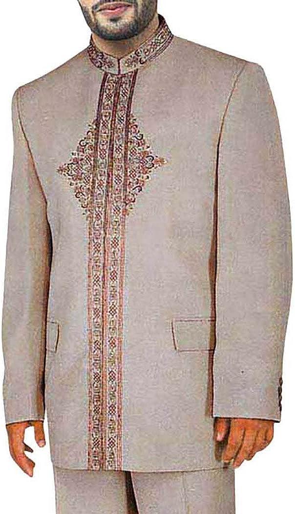 INMONARCH Mens Almond 2 Pc Jodhpuri Suit Traditional JO0102