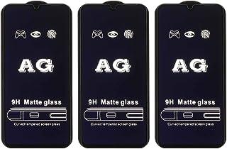شاشة حماية زجاجية مقاومة للتوهج لموبايل اوبو ريلمي C2 من دراجون، 3 قطع - اسود