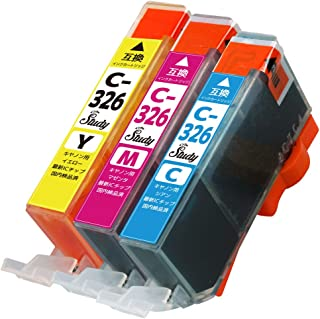 BCI-326(C/M/Y)キヤノン用インクカートリッジ カラー3色マルチパック 互換インク (最新ICチップ搭載/残量検知対応/デジタル説明書付き(QR)) 対応機種: PIXUS MG8230 PIXUS MG8130 PIXUS MG62...