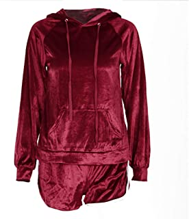 Aiweijia 2-Piece Set Hoodie + Shorts Sportswear Women's Clothing Casual wear