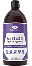Premium C8 MCT Oil   Boosts Ketones 3X More Than Other MCTs   Highest Purity C8 MCT Available 99.8%   Paleo & Vegan Friendly   Gluten Free   Pure Caprylic Acid   Ketosource® (35.2oz)