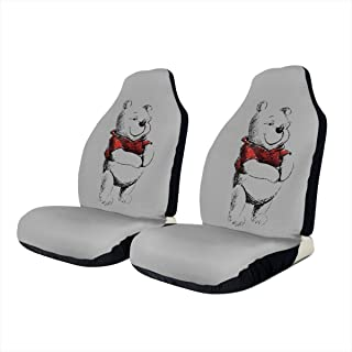 Winnie Ther Pooh Bear Universal Car Front Seat Cover Safety Seat Cover Compatible with Various Vehicle Seats