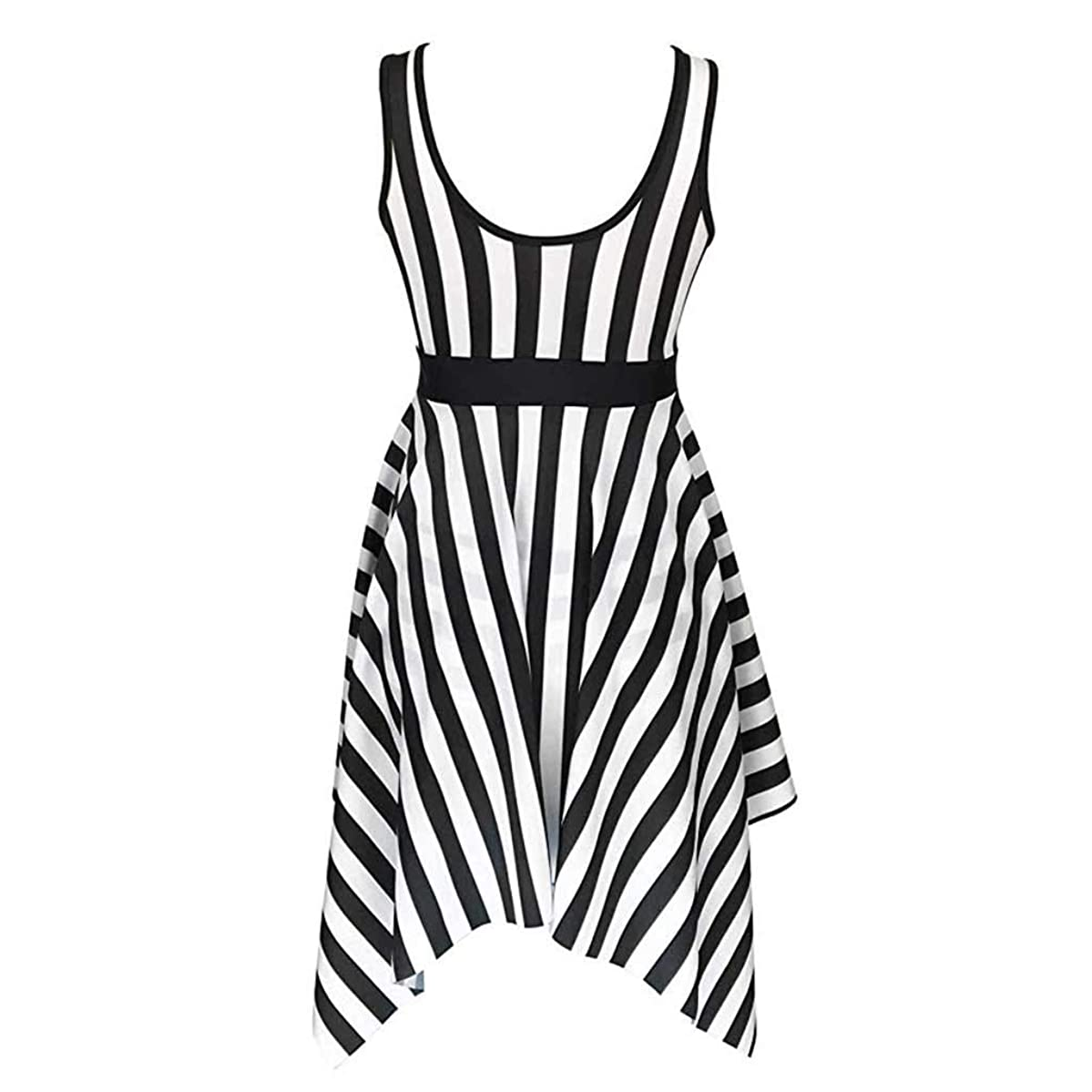 aliveGOT Women's One Piece Swimsuit Sailor Striped Plus Size Cover up Swimdress