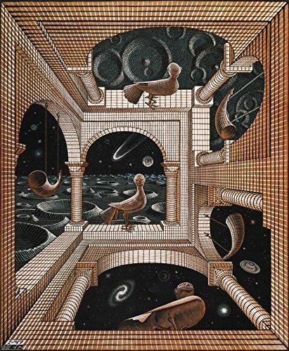 Escher 37 Poster Stampe cm. 50 x 70 Papi Arte Moderna Stampa da Quadro Dipinto Falso d'autore Vendita Online