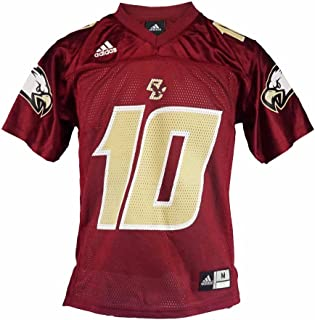 adidas Boston College Eagles NCAA Youth Red Official Home #10 Football Jersey