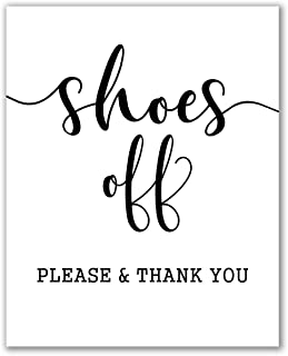 Shoes Off Sign Print - 8