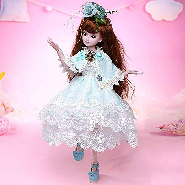 ZNDDB Reborn Baby doll 23,6-Zoll-19-Joint-Puppen-Komplettset (Gesicht Make-up + Kleid + Kopfbedeckung + Schuhe) Weihnachten B07L2YXYXQ Attraktive Mode  | Lass unsere Waren in die Welt gehen