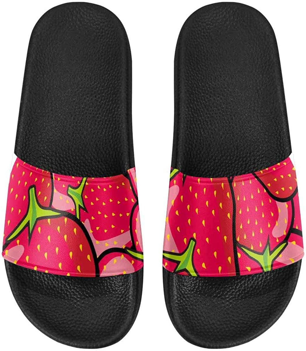 InterestPrint Slipper Sandals for Women with Soft Material Decorative Floral Pattern