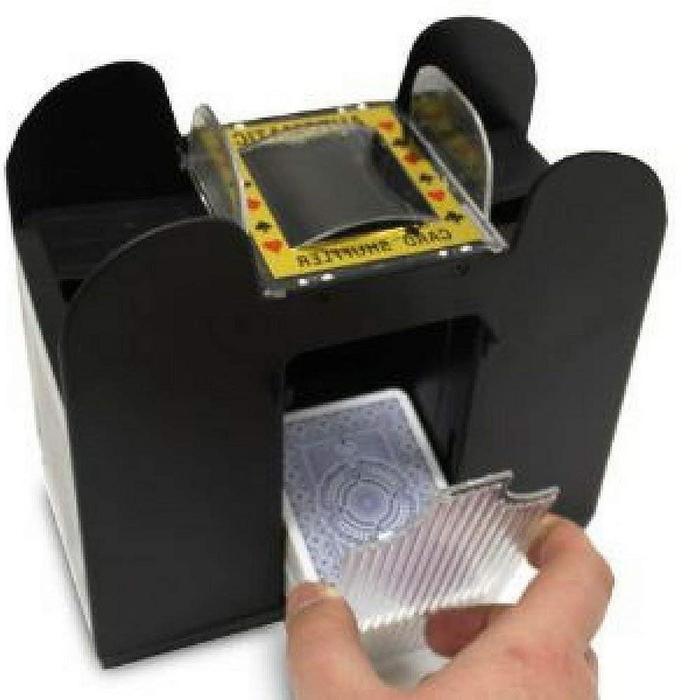 AF Automatic Playing Card Shuffler, Best Shuffler, 6 Deck, Ideal for Blackjack-Poker, Portable, Battery Operated, Black & Ebook Home Decor