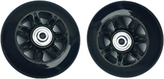 YongXuan Mute Wear-Resistant Luggage Suitcase Replacement Wheels Kit Inline Outdoor Skate Replacement Wheels (90mm × 24mm)