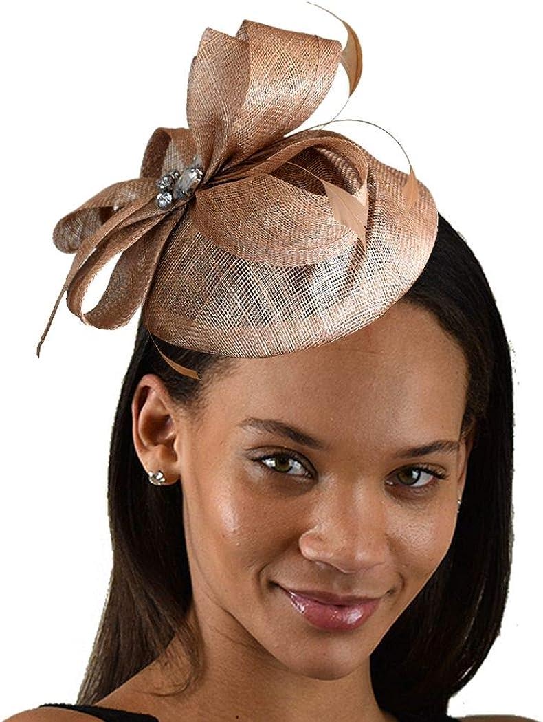 C.C Women's Elegant Cocktail Fashion Mesh Sinamay Fascinator Headband