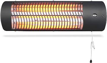 GXFC Calefactor de Cuarzo montado en la Pared con 3 configuraciones de Potencia (500/1000 / 1500W), Exterior/Interior, IP24 a Prueba de Agua, protección contra sobrecalentamiento