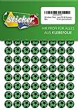 252Stickers Football, Stickers, 15mm, vert/noir, en PVC, film, imprimé, autocollant, Em WM, Bundesliga