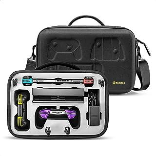 Nintendo Switch 対応 tomtoc ニンテンドースイッチ まるごとバッグ ショルダー バッグ アクセサリー ケーブル Pro コントローラー プロコン ドック ACアダプター アクセサリー収納 旅行 耐衝撃 ブラック