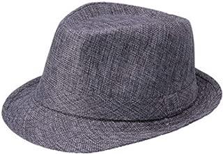 Unisex Estilo Cubano Fedora Trilby Hat Gangster Panamá Gorro De ala Corta Sombrero para El Sol