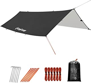 240 x 220 cm Lawei Waterproof Tent Tarp Multifunctional Camping Tarpaulin Footprint Shelter Groundsheet Hammock with Drawstring Carrying Bag for Picnic Hiking Outdoor Beach