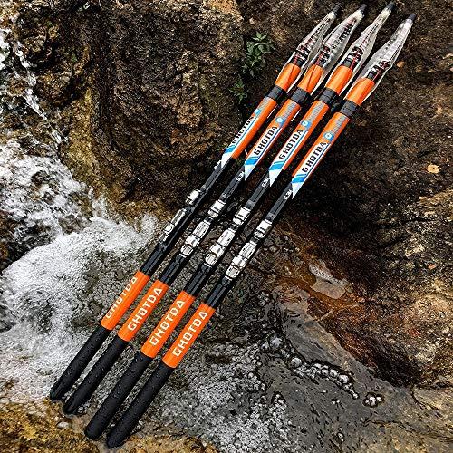 TYBXK Caña de Pescar Calidad de Fibra de Carbono de la Roca caña de Pescar telescópica de alimentación de la Roca Caña de Pescar Carpa alimentador de Barcos del Recorrido de Rod mar 94