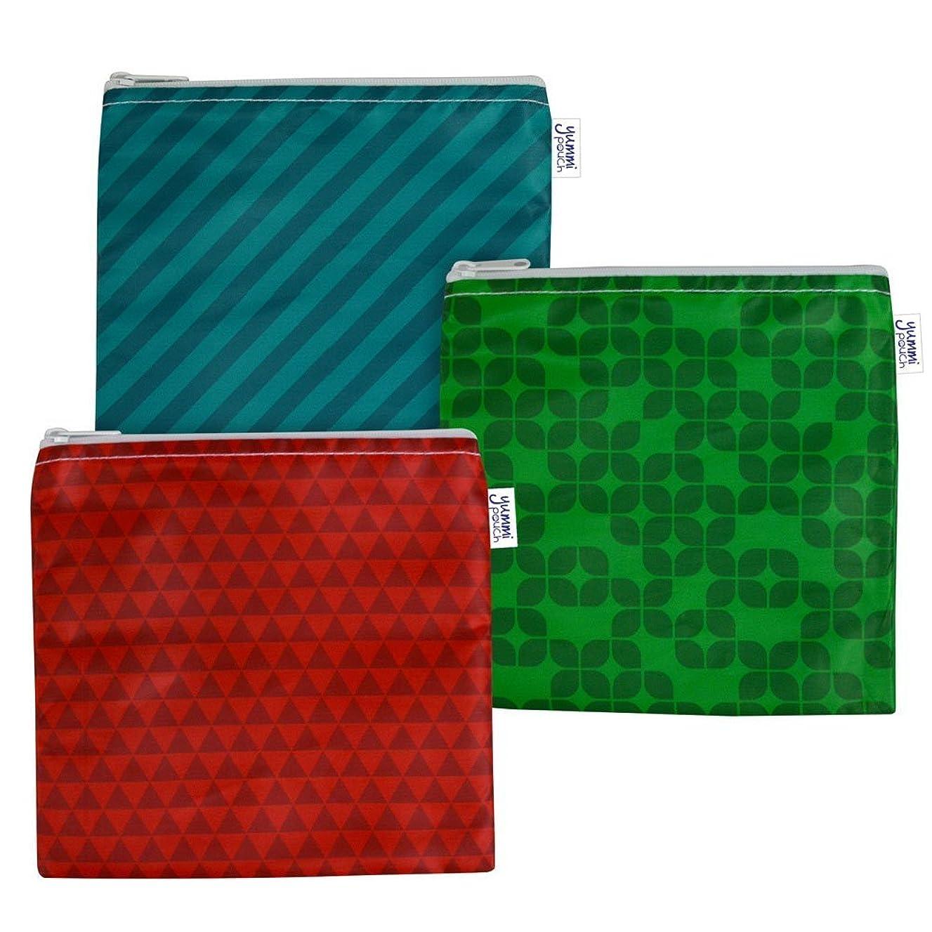 Cloth Sandwich Bags - Set of 3 - Yummi Pouch (Jewel)