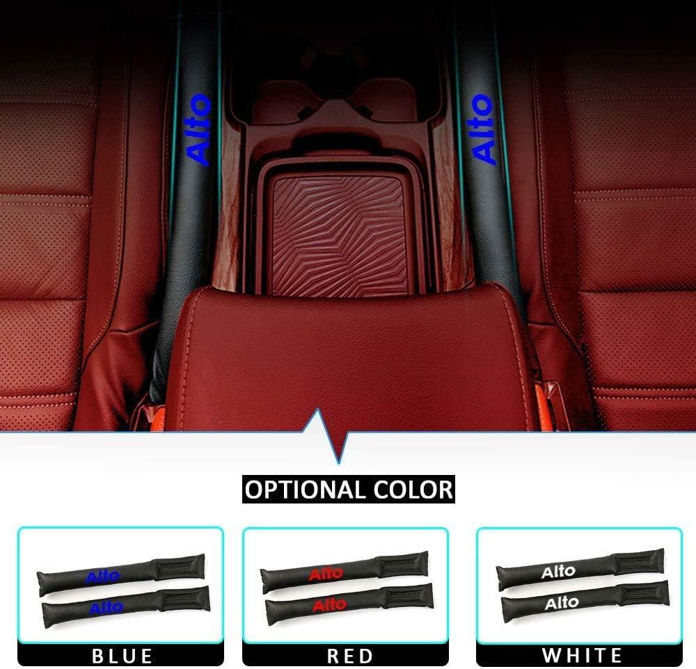 Zlyczw 2 Teiliges Pu Leder Autositz Spaltlücken Füllpolster Verhindert Das Herunterfallen Von Gegenständen Auslaufsicherer Streifen Für Das Auto Passend Für Suzuki Alto Küche Haushalt