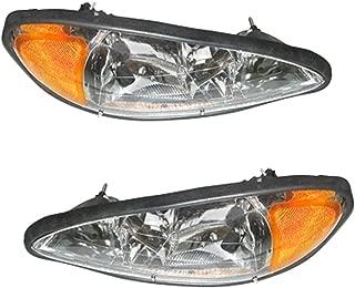 Pontiac Grand Am 1999-2005 99 00 01 02 03 04 05 Head Light Headlight Pair Set