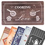 Kitchen Mat,Anti Fatigue Kitchen Rug 17'×30' Memory Foam Comfort Area Rugs Water Proof & Oil Proof...