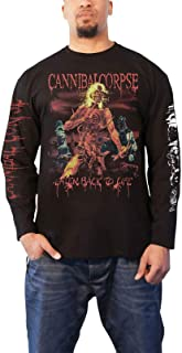 Cannibal Corpse T Shirt Eaten Back to Life Official Mens Black Long Sleeve
