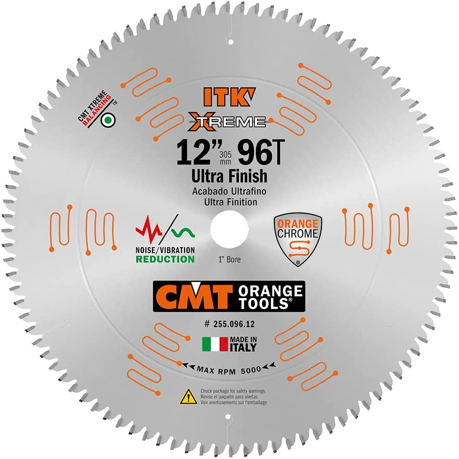 CMT 255.096.12 ITK Popular overseas Industrial Fine Finish 12-Inch Easy-to-use x Saw Blade 9