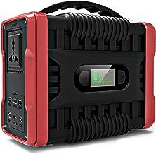 UKing Almacenamiento Suministro de Energía,222Wh/60000mAh Generador Solar 220v con Inversor DC/AC e LED Pantalla,Cargado por el Panel Solar/Toma de Corriente para Respaldo de Emergencia CPAP