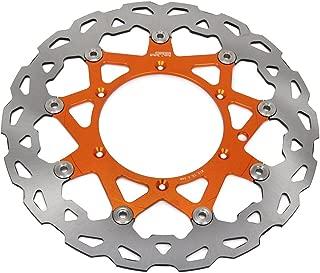 JFG RACING 320mm Orange Front Floating Brake Disc Rotor For XC XCW XCF MXC GS MX MXC EXCG LC4 SXS250 SXS450 XC250F XC300W XC450 MX500 SX500
