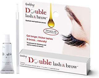 Godefroy Double Lash and Brow Treatment, for longer & thicker eyelash and eyebrows 1-Pack One Color