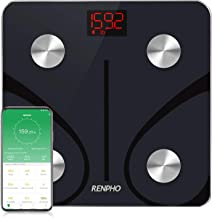 RENPHO Bluetooth Body Fat Scale, Weight Scale Digital Bathroom Smart Body Composition Analyzer Wireless BMI Scale Health Monitor with Smartphone APP, 396 lbs/180kg