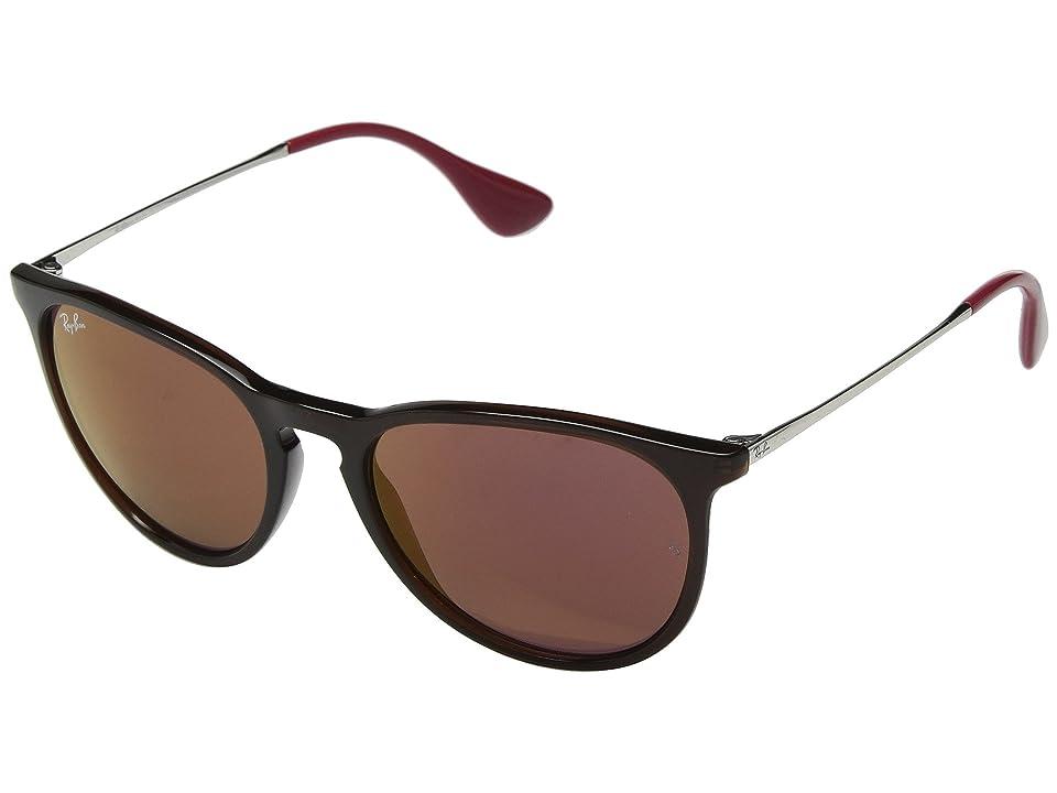 Ray-Ban Erika RB4171 54mm (Brown/Dark Violet Mirror) Fashion Sunglasses