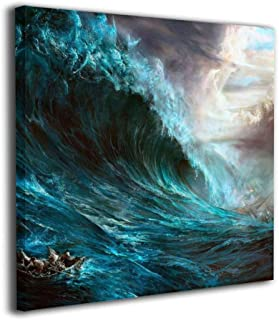 Fu Qi Rui Shang Mao Canvas Wall Art Prints Jesus Christ Second Coming Picture Paintings Contemporary Home Decoration Giclee Artwork Wood Frame Gallery Stretched 12