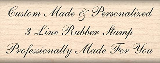 Stamps by Impression Custom Made Personalized Rubber Stamp (3 Line) Choice of Font