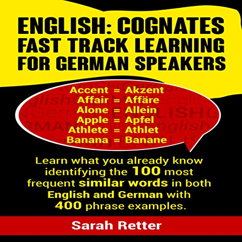 English: Cognates Fast Track Learning for German Speakers audiobook cover art